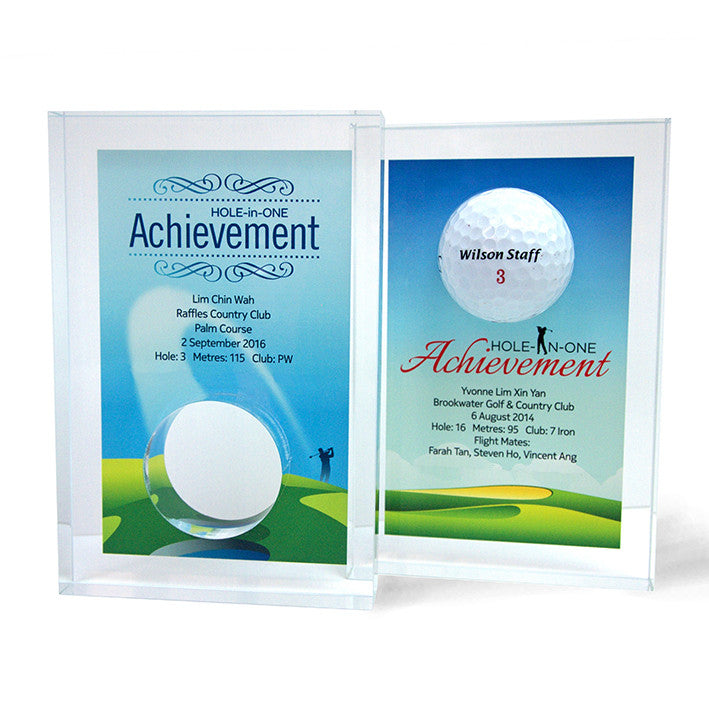 Design 11 - Customisable Acrylic Hole-In-One Plaque