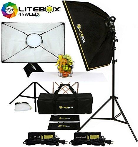 LED-280R KIT: Continuous LED Lighting Kit for Filming Video & Photoshoots w/ Stands & Travel Bag - (PAIR) - liteboxphotography