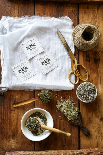 DIY Herbal Tea Bath Tutorial and Labels