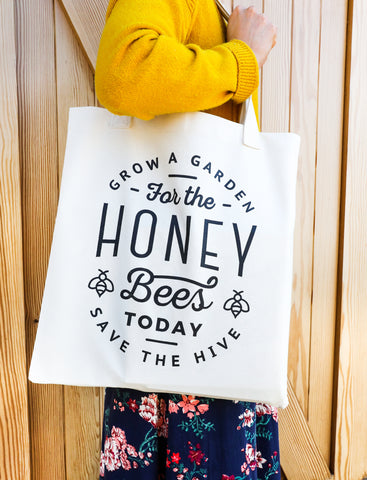 Honeybees Tote Bag Grow a Garden Save the Hive