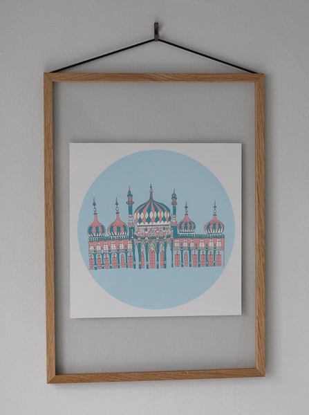Illustrated fine art print of Brighton pavilion