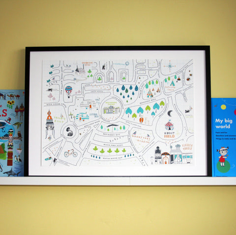 Children's illustrated map