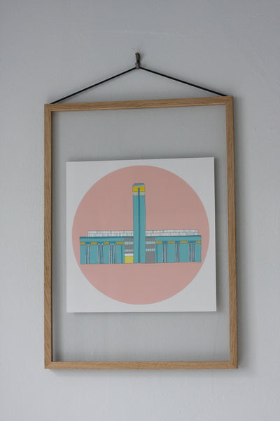 Tate Modern gallery, London. Illustrated, fine art print