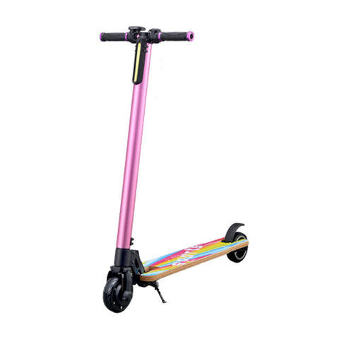 5 inch maple electric kick scooter pink color