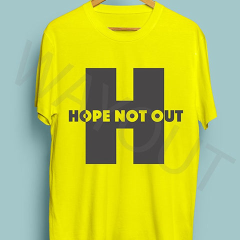 Hope Not Out by SAF Utopia T-Shirt - Yellow