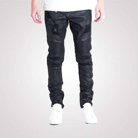 Embellish Testarossa Ripped Biker - Black