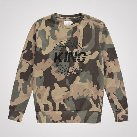 King Apparel Bethnal Sweatshirt - Camo