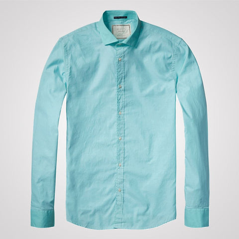 Scotch and Soda Longsleeve 2-tone Shirt - Spearmint