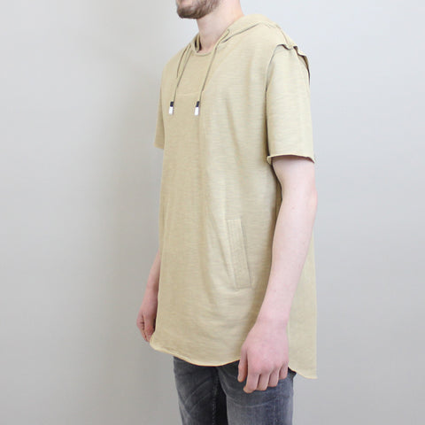 Crooks & Castles Ashes Knit S/S Hooded Pullover - Khaki