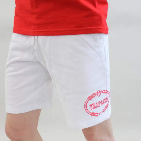 Trap Lord Crest Sweat Shorts - White