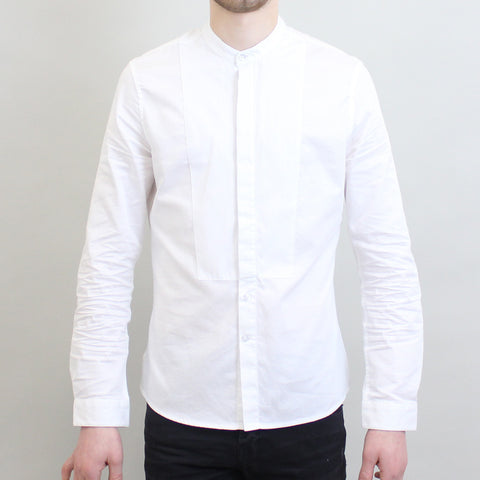 Pearly King Grandad Collar Shirt - White
