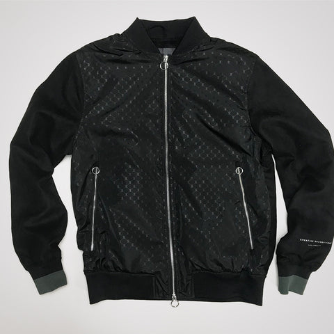 Creative Recreation House Pattern Bomber- Black