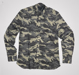 Antony Morato Long Sleeve Shirt Fabric Print - Army Green