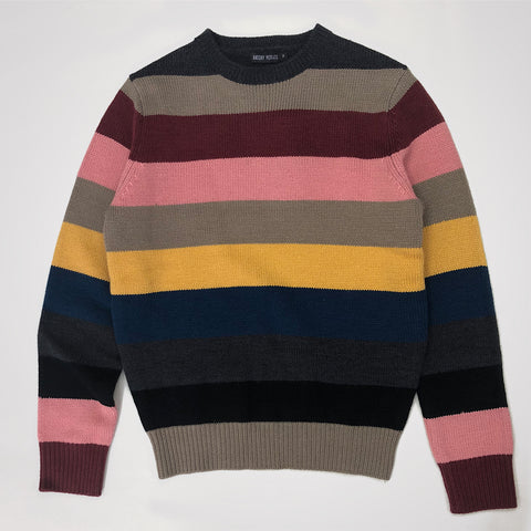 Antony Morato Striped Round Neck Sweater - Multi