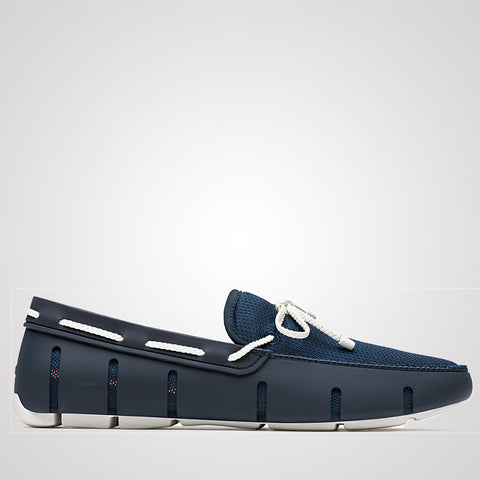 Swims Braided Lace Loafer - Navy / White