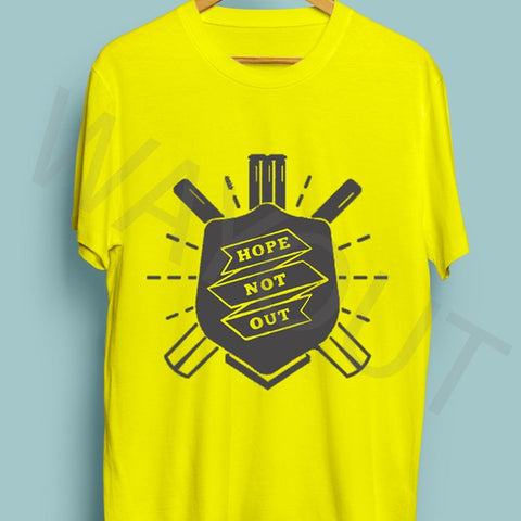 Hope Not Out by SAF Shield T-Shirt - Yellow