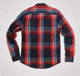 Scotch & Soda Checked Flannel Shirt - Blue / Red