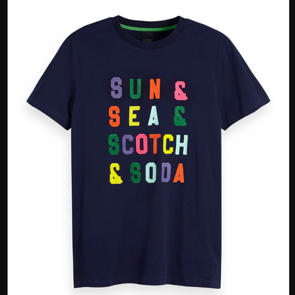 Scotch & Soda Clean Crewneck T-Shirt - Navy