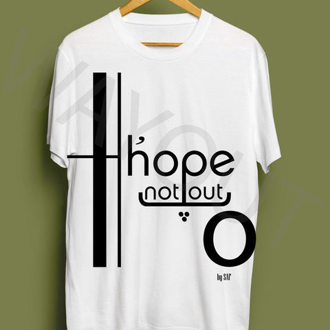 Hope Not Out by SAF Jouska T-Shirt - White
