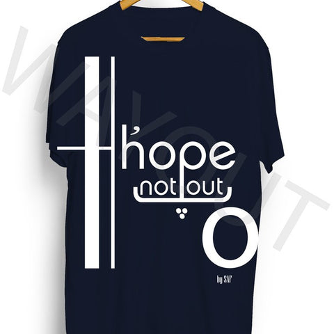 Hope Not Out by SAF Jouska T-Shirt - Navy Blue