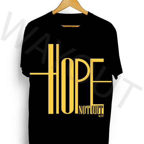 Hope Not Out by SAF Ripple T-Shirt - Black