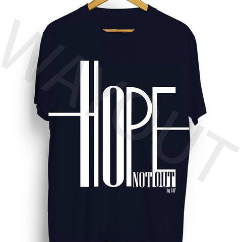Hope Not Out by SAF Ripple T-Shirt - Navy Blue