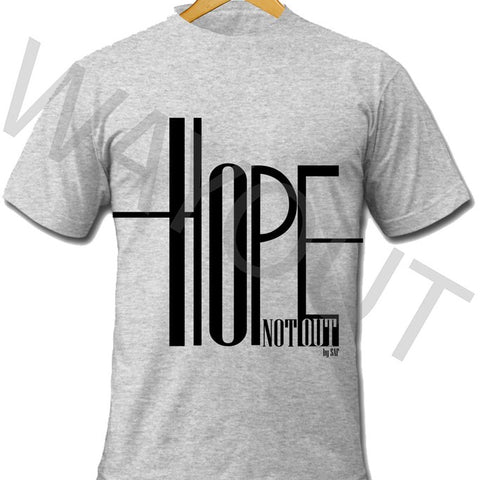 Hope Not Out by SAF Ripple T-Shirt - Grey