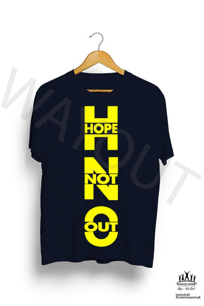 Hope Not Out by SAF Agora T-Shirt - Navy Blue