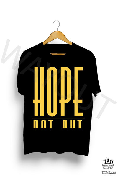 Hope Not Out by SAF Classic T-Shirt - Black