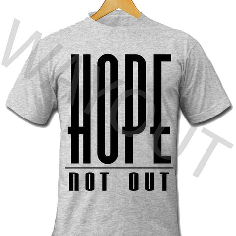 Hope Not Out by SAF Classic T-Shirt - Grey