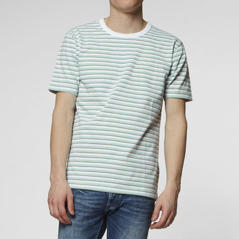Denham Tiger T-Shirt - Harbour Grey Stripe