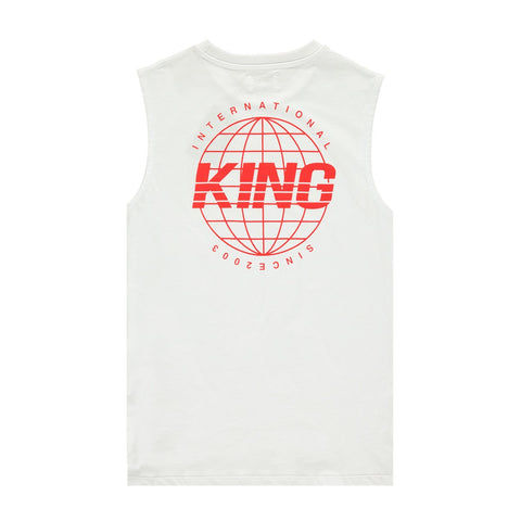 King Apparel Bethnal Sleeveless T-Shirt - White
