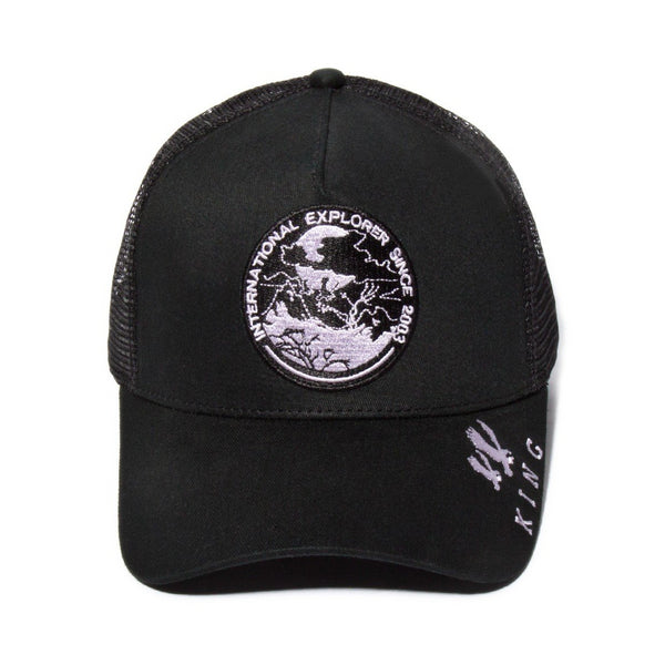 King Apparel Explorer Mesh Trucker Cap - Black