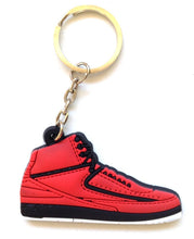 Air Jordan 2/II OG Candy Pack Red Sneakers Shoes 2D Keychain Keyring Keyloop