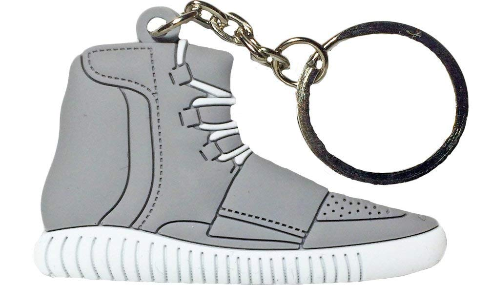assasinkicks Grey White Yeezy 750 Boost 2D Flat Sneaker Keychain