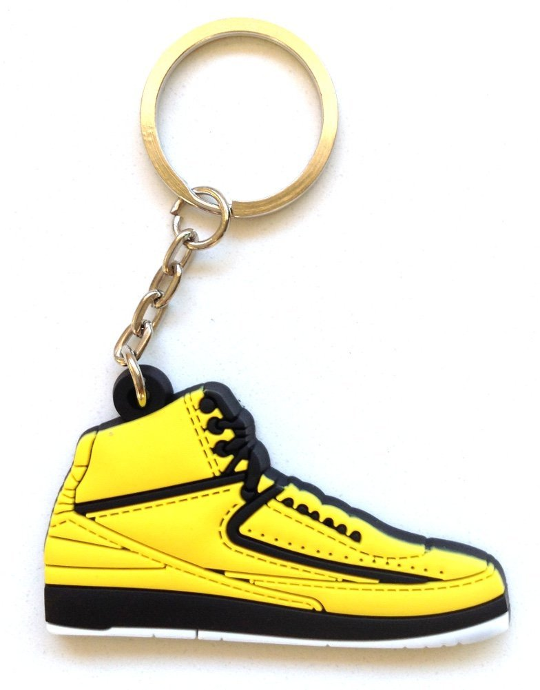 Air Jordan 2/II OG Candy Pack Yellow Sneakers Shoes 2D Keychain Keyring Keyloop