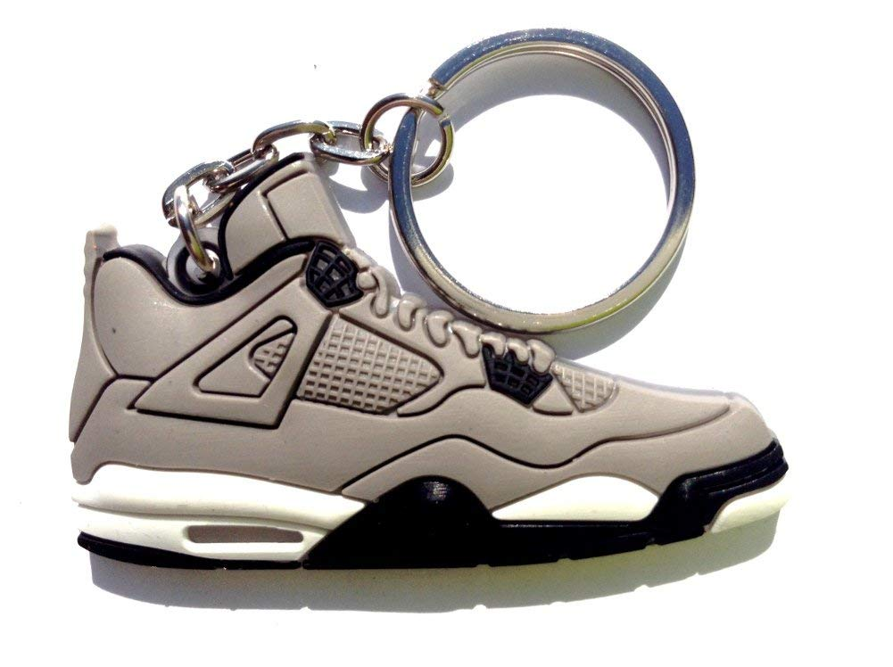 Air Jordan 4/IV Retro Cool Grey/Chrome Sneakers Shoes 2D Keychain Keyring