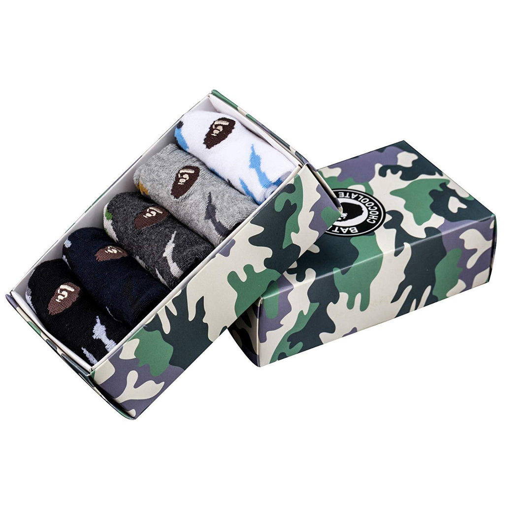 A Bathing Ape Socks Soft Athletic Ankle Socks Comes With 5 Different Styles A Bathing Ape Street Wear