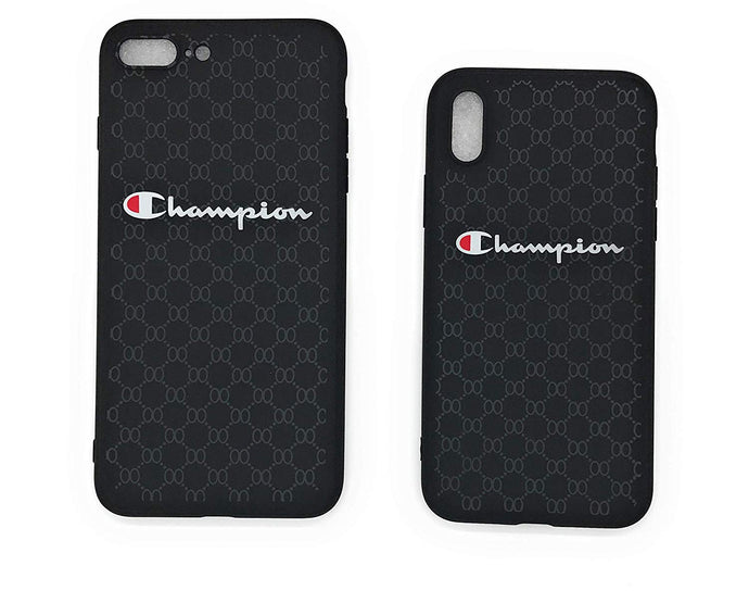 TechGearClothing Exclusive Hypebeast Champion Sport Design Cell Phone Cases For Iphone X and Iphone 7/8 Plus With 2 Keychains