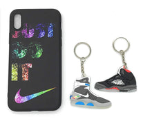 TechGearClothing Exclusive Hypebeast Sport Design Cell Phone Cases For Iphone X and Iphone 7/8 Plus With 2 Keychains