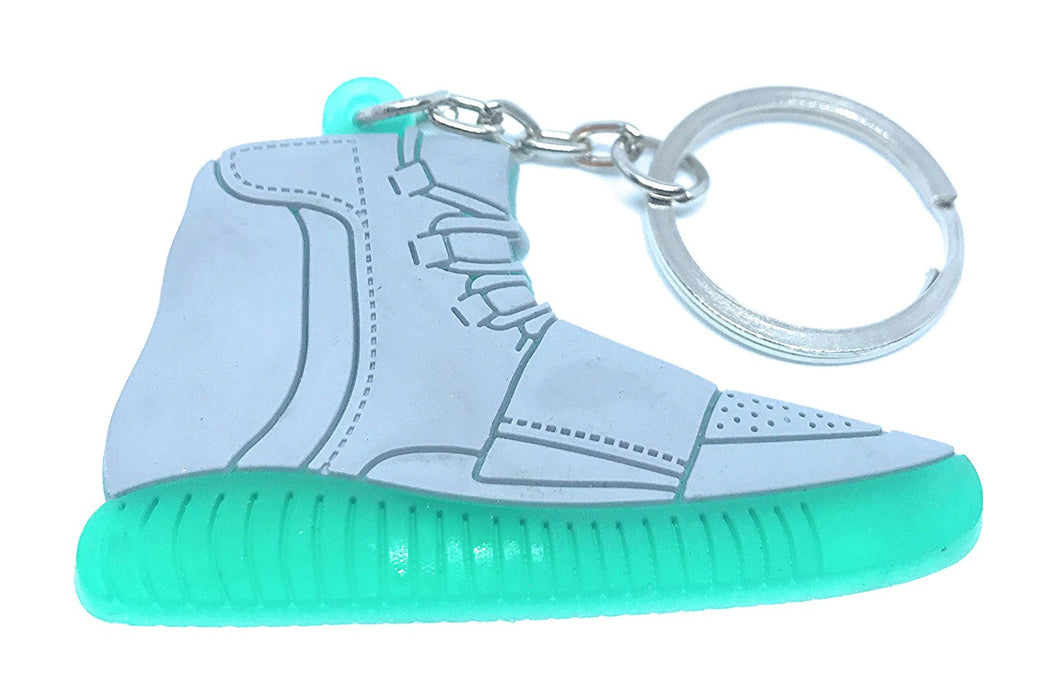 Yeezy hightop Gray And Green Shoes Keychain Collectable