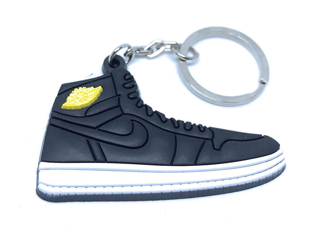 Air Jordan Retro 1 Black And White Yellow Shoe Keychain Collectable