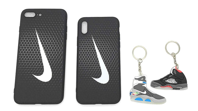 TechGearClothing Exclusive Hypebeast Glow in The Dark Sport Design Cell Phone Cases For Iphone X and Iphone 7/8 Plus With 2 Keychains