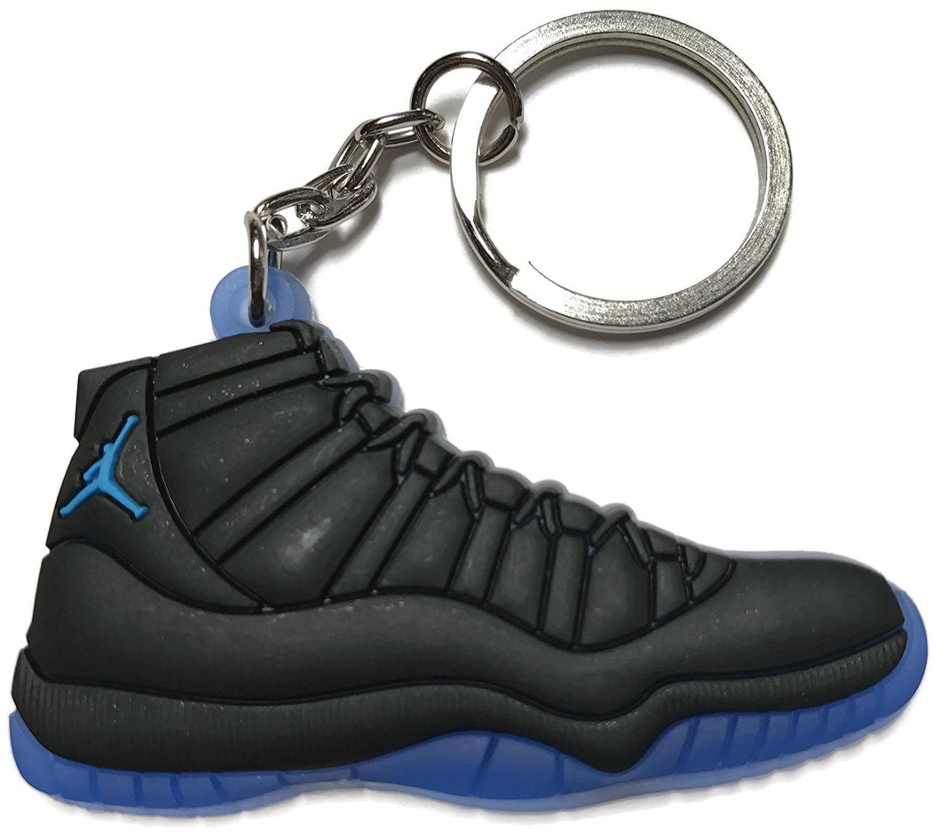 Air Jordan Retro 11 Black Blue Shoe Keychain