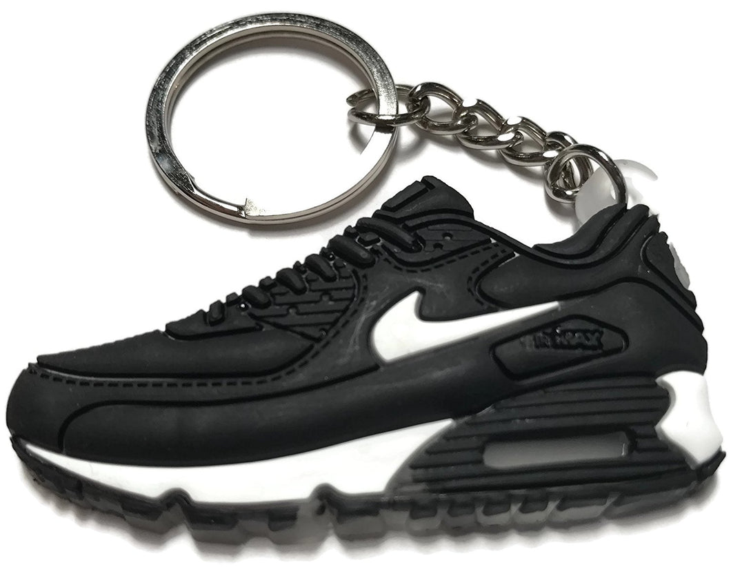 Nike Air Max Black Gray White Keychain