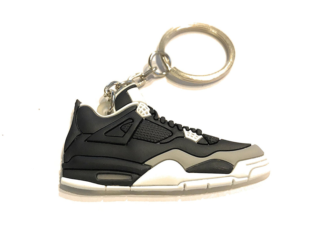 WeTheFounders Air Jordan Retro 4 Black White Oreo Shoe Collectable Keychain