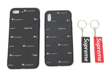 TechGearClothing Exclusive Hypebeast Sport Sup x Champion Design Cell Phone Cases For Iphone X and Iphone 7/8 Plus With 2 Keychains