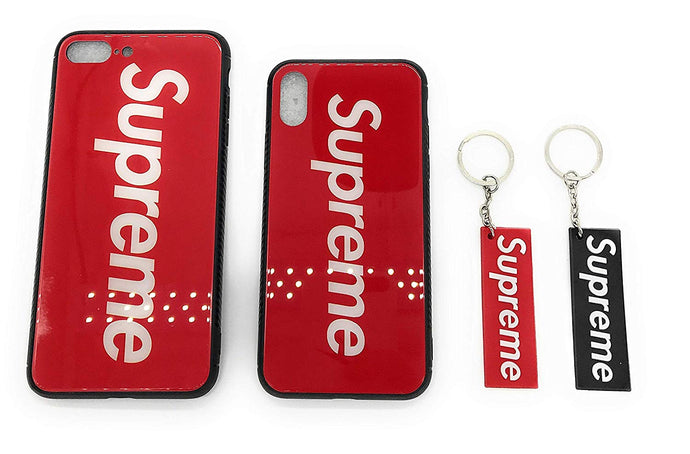 TechGearClothing Exclusive Hypebeast Sup Red Design Cell Phone Cases For Iphone X and Iphone 7/8 Plus With 2 Keychains
