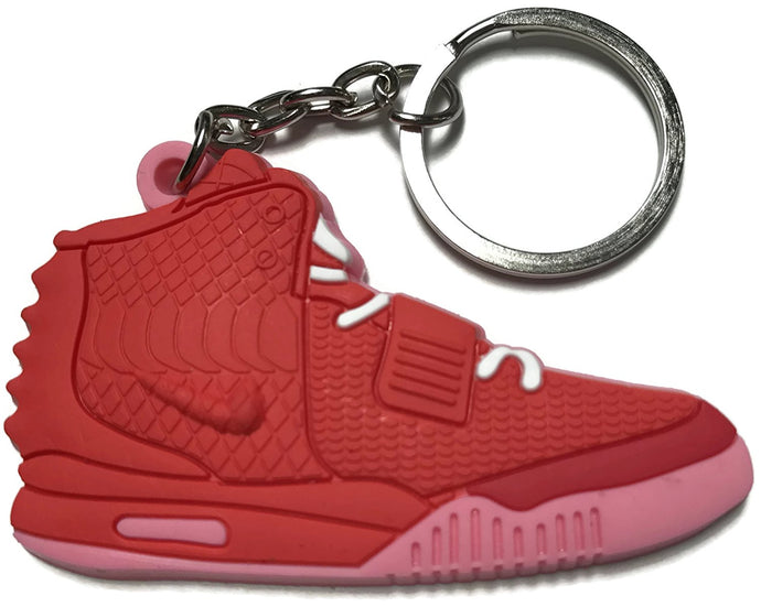 Pink Red Yeezy Hightop Shoes Keychain Collectable