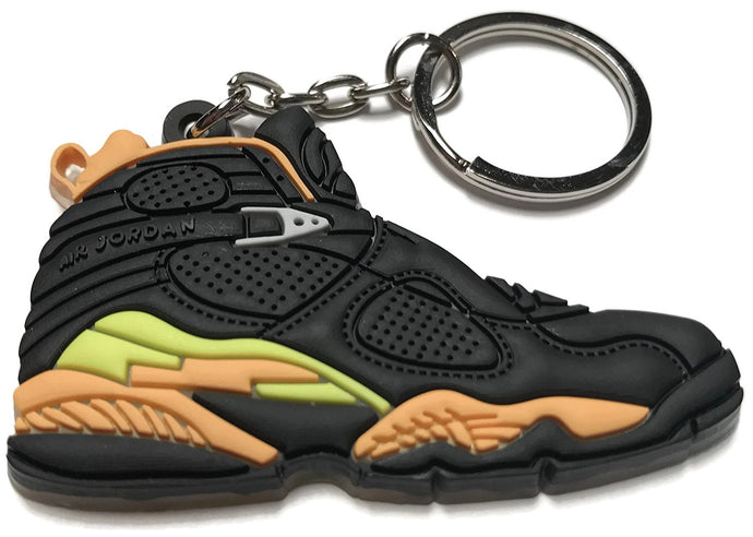 Air Jordan Retro 8 Black Yellow Orange Shoe Keychain